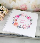 Svatební kniha hostů LUX - vintage květinový věnec
