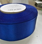 Stuha atlasová oboulící - tm.modrá  - 40mm/1m