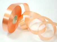 Stuha plastová 25mm / 100m - lososová