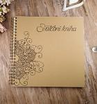 Svatební kniha hostů LUX - recykl mandala