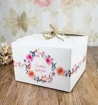 Krabička na výslužku s ouškem - květinový věnec