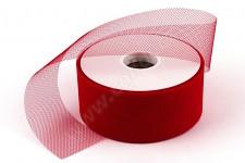 Tylová stuha červená - 5cm/1m