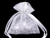 Dárkový riflový pytlíček s bavlněnou krajkou - 1ks