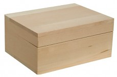 Dřevěná krabička obdélníková - na prstýnky