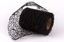 Stuha pavučina crude 10cm  - černá - 4,6m