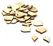 Dřevěná srdíčka - mix velikostí - 40ks
