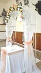 Svatební oblouk - slavobrána antik bílá - půjčovna
