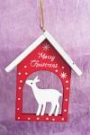 Dřevěný domeček - Merry Christmas
