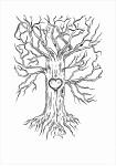 Svatební strom hostů - A3 - strom