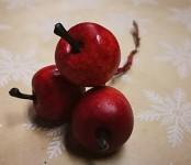 Jablíčka mini červená - zápich 3ks