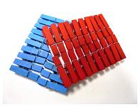 Kolíčky červené dřevěné  48 mm - 20 ks