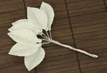 Perleťové lístečky - přízdoba na drátku
