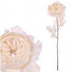 Květ růže glitr klip - fialový