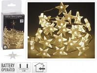 Řetěz s LED světýlky ve tvaru hvězdičky