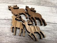 Dřevění jeleni natur - 4ks