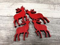 Dřevění jeleni červení - 4ks