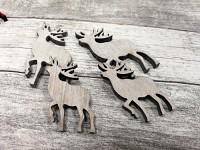 Dřevění jeleni bílí - 4ks