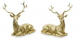 Jelen ležící - zlatý