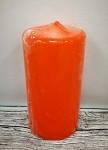 Svíčka válcová - oranžová