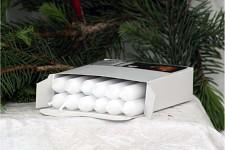 Stromečkové svíčky - bílé - 12ks
