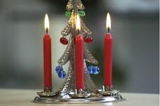 Stromečkové svíčky - červené - 12ks
