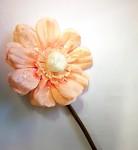 Umělá květina - anemone - meruňková
