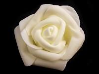 Růžička velká pěnová - krémová - 1ks