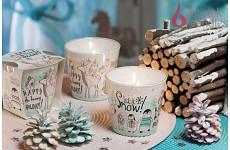 Vonná svíčka ve skle - Vánoce na sněhu