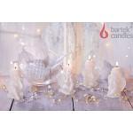 Svíčka - anděl sedící krémový - mix