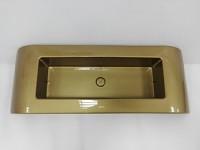 Aranžovací miska plastová dlouhá  - zlatá