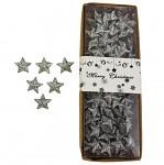 Hvězdičky malé glitter stříbrné - 100ks