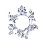 Šiškový věnec glitter - 32cm - hnědý