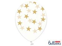 Balonek - průhledný se zlatými hvězdami
