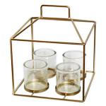 Adventní svícen - bambus - šedý