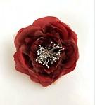 Hlavička růže snow - bordo