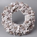 Věnec šiškové květy - 32cm