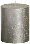 Svíčka rustikální s patinou - starorůžová - 10cm