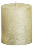 Svíčka rustikální s patinou - starorůžová - 13cm