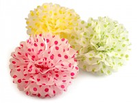 Pompon - koule puntík - žlutá - 35 cm