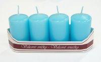 Adventní svíce - sv.tyrkysové