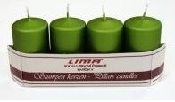 Adventní svíce - zelené met. matné