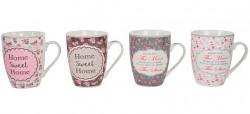 Hrnek romantik keramika 360ml - 4 druhy - květinový