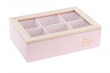 Krabička na čaj - ENJOY TODAY - růžová