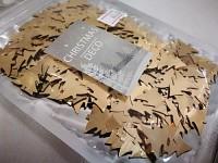 Konfety stromečky - zlaté lesklé