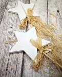 Hvězdička dřevěná bílá - zápich