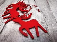 Sob dřevěný červený - 3ks