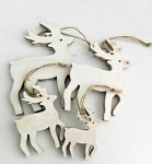 Dřevění jeleni natur závěs - 4ks