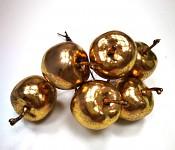 Jablíčka mini - ZLATÁ lesklá - 6ks