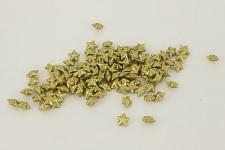 Hvězdička malá - zlatá glitter - 20ks