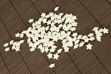 Hvězdička malá - bílá glitter - 20ks